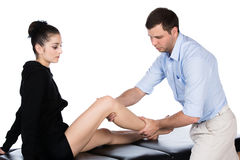 Physiotherapist massaging patient Stock Photography