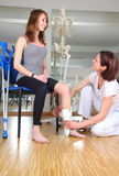 Physiotherapist and patient with knuckle injury Royalty Free Stock Photo