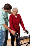 Physiotherapist teaching using the walker Stock Photography