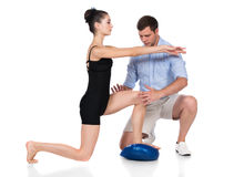 Physiotherapist treating patient Royalty Free Stock Photography