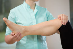 Physiotherapist during work Royalty Free Stock Image