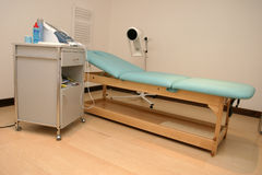 Physiotherapy. Medical room with equipment Royalty Free Stock Photos