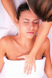 Physiotherapy cervical massage Royalty Free Stock Images