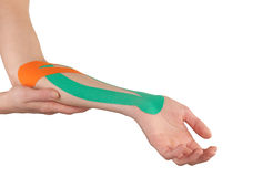 Physiotherapy for elbow pain, aches and tension Royalty Free Stock Image