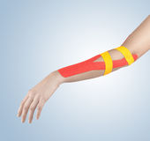 Physiotherapy for elbow pain, aches and tension Stock Photography