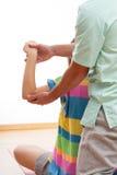 Physiotherapy exercises Stock Photos