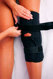 Physiotherapy knee brace Stock Photography