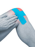 Physiotherapy for knee pain, aches and tension Stock Images