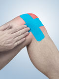 Physiotherapy for knee pain, aches and tension Royalty Free Stock Photos