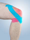 Physiotherapy for knee pain, aches and tension Royalty Free Stock Images