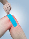 Physiotherapy for knee pain, aches and tension Royalty Free Stock Photo