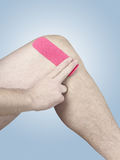 Physiotherapy for knee pain, aches and tension Royalty Free Stock Image