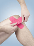 Physiotherapy for knee pain, aches and tension Royalty Free Stock Photography
