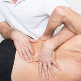 Physiotherapy manipulation Royalty Free Stock Photos