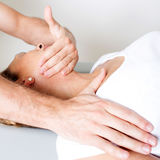 Physiotherapy manipulation Royalty Free Stock Photo
