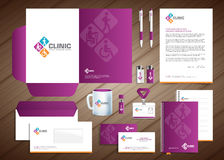 Physiotherapy Medical Centre Corporate Identity Royalty Free Stock Photography