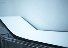 Physiotherapy rehabilitation bed in hospital medical clinic Stock Image