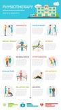 Physiotherapy Rehabilitation Infographics Stock Photo
