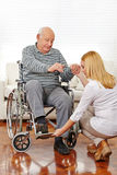 Physiotherapy with senior man Royalty Free Stock Photos