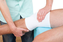 Physiotherapy visit Royalty Free Stock Photo