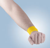 Physiotherapy for wrist pain, aches and tension Royalty Free Stock Photo