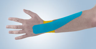 Physiotherapy for wrist pain, aches and tension Stock Photo