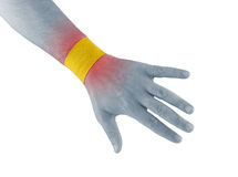Physiotherapy for wrist pain, aches and tension Royalty Free Stock Photos