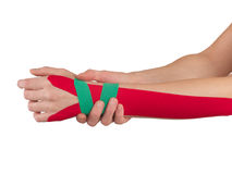 Physiotherapy for wrist pain, aches and tension Stock Photography