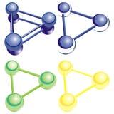 Physique de chimie de molécule d'atome illustration libre de droits