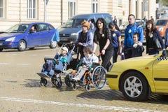 Physiquement et mentalement - handicapés Images libres de droits