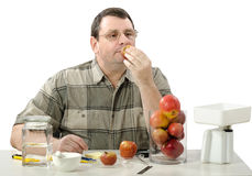 Phytocontrol expert smelling apples Stock Images