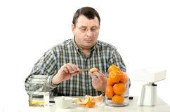 Phytocontrol sakkunnig mäta mandarineskiva Royaltyfria Foton