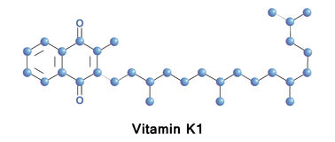 Phytomenadione, vitamin K1. As a supplement it is used to treat bleeding disorders, including in warfarin overdose, hemorrhagic disease of the newborn, vitamin Stock Photos