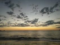 Piñuelas海滩日落在哥斯达黎加 库存照片