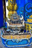 Piękna Buddha statua w Rong Sua Dziesięć świątyni, Tajlandia zdjęcia royalty free