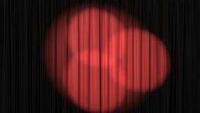 Piękna Czerwona zasłona z światło reflektorów, Bezszwowa Zapętlająca 3d animacja 4K zbiory wideo