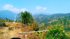 Piękna i naturalna widok górski fotografia obraz stock