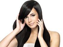 piękna włosy długa prosta kobieta zdjęcia stock