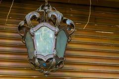 Piękne unlit rocznika lampionu, domu lub ogródu dekoracje, klasyczny projekt obraz stock