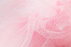 Pięknej delikatnej różowej tło siatki puszysta tkanina zdjęcia royalty free