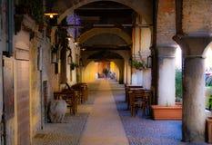 Piękni archs w przejściu w Verona Turystyka, architektura, Europa, Włochy - wizerunek obraz stock