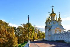 Piękni budynki w St Petersburg, Rosja zdjęcia royalty free