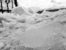 Piękni i niebezpieczni bloki lód obrazy stock