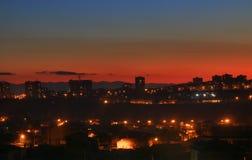 Piękni miast światła obrazy stock