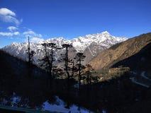 Piękno śnieg i góra fotografia royalty free