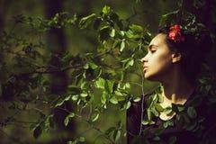 Piękno, natura, młodość i świeżość, wiosny moda, zdrój, relaksujemy zdjęcia stock