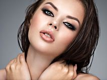 Piękno twarz młoda piękna kobieta obrazy royalty free