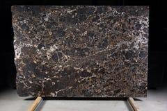 Piękny brązu marmur, naturalny kamień dla wewnętrznej pracy, dzwoni Emperador złoto fotografia stock