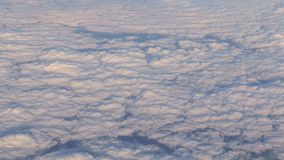 Piękny cloudscape od samolotu zbiory wideo