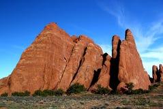 Piękny i szorstki krajobraz w południe za zachód od Stany Zjednoczone zdjęcia stock